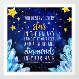 Star and Diamonds Art Print
