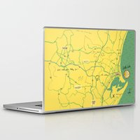 maps Laptop & iPad Skins featuring Maps - Durban by DRIEHOEK