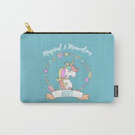 Magical Marvelous Unicorn Aunt Carry-All Pouch