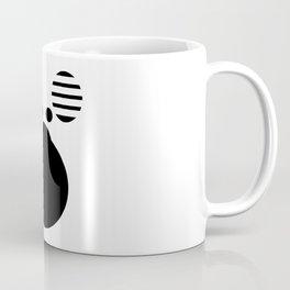 Moose Black Coffee Mug