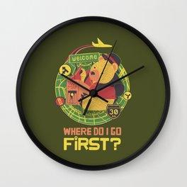 Where Do I Go Now Wall Clock