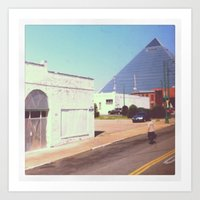 memphis Art Prints featuring Memphis by lizzy gray kitchens