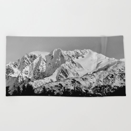 Kenai Mt Glacier Two Beach Towel