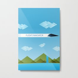The Flight of the Navigator Minimal Film Poster Metal Print