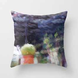 Through the window: Soft colors abstract Throw Pillow