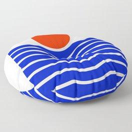 Going down-modern abstract Floor Pillow