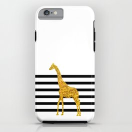 Gold Giraffe iPhone Case