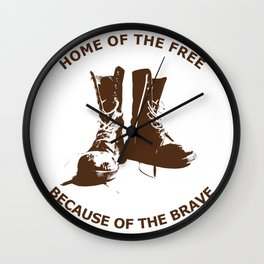 Home of the Free, Because of the Brave Wall Clock