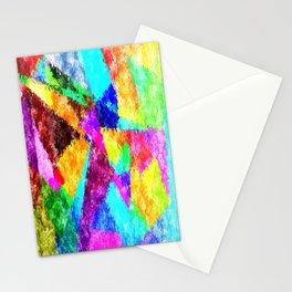 Formes géométriques multicolore Stationery Cards