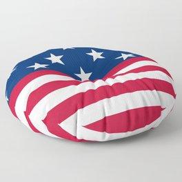 US Flag Floor Pillow