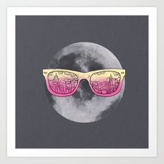 Cool moon Art Print