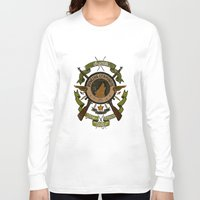 bucky barnes Long Sleeve T-shirts featuring Sgt Bucky Barnes (green) by emptystarships