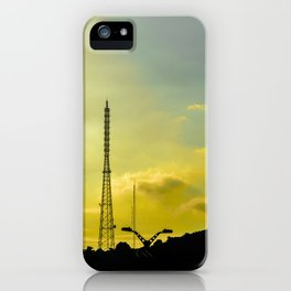 Silhouette Urban Scene, Guayaquil, Ecuador iPhone Case