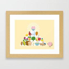 perfect pyramid Framed Art Print