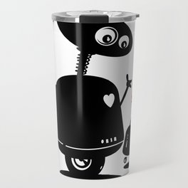 Robot Heart to Heart Travel Mug