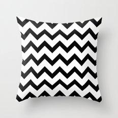 Simple Black and white Chevron pattern Throw Pillow