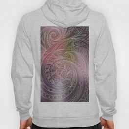 transparent zen spiral pattern 1 on the gradient Hoody