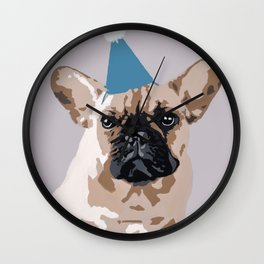 Milo on light grey Wall Clock