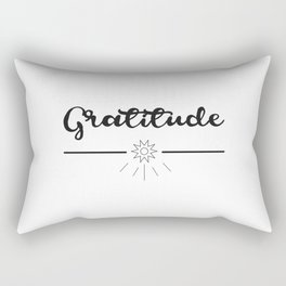 Gratitude Love Grateful inspirational yoga Quote Rectangular Pillow