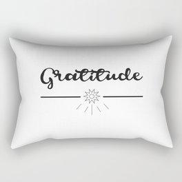 Gratitude Love Grateful inspirational yoga Quote Rectangular Pillow