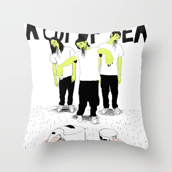 Dying for a cup of tea Throw Pillow