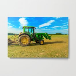 Tractor Side View Metal Print