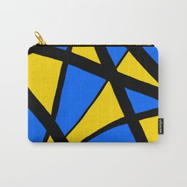 Yellow and Blue Triangles Abstract Carry-All Pouch