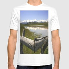 On The Fence Mens Fitted Tee White MEDIUM