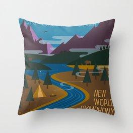 Antonín Dvořák New World Symphony Cover Art  Throw Pillow