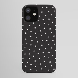 Minimal- Small white polka dots on black - Mix & Match with Simplicty of life iPhone Case