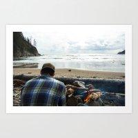 Beach Camp Art Print