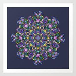 Dot Mandala Brights Art Print