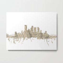Pittsburgh Pennsylvania Skyline Sheet Music Cityscape Metal Print