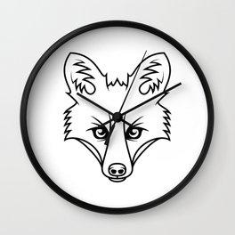 Cunning - B&W Wall Clock