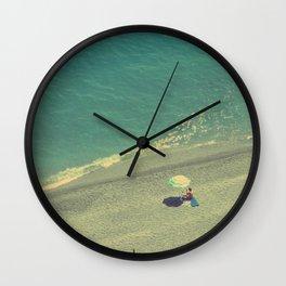 Lady on the Italian Riviera Wall Clock