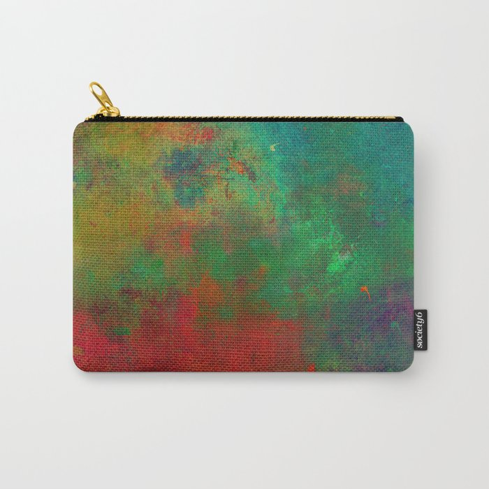 Lose Yourself In Colour (Abstract, textured painting) Carry-All Pouch