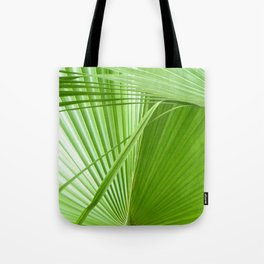 Palm Leaves // Tropical Wall Art, Beach Cottage Decor, Coastal Art Tote Bag