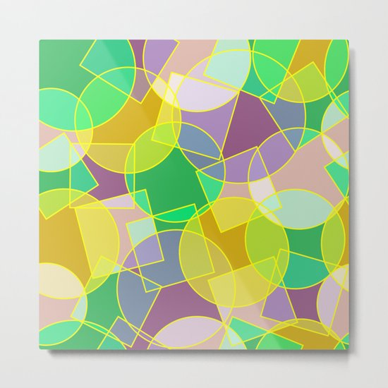 Colorful abstract geometric pattern Metal Print
