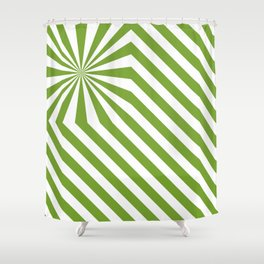 Stripes explosion - Green Shower Curtain