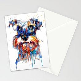 Schnauzer Head Watercolor Portrait Stationery Cards