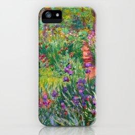 Claude Monet - The Iris Garden At Giverny iPhone Case