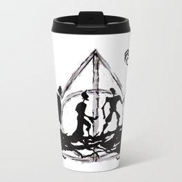 The Three Brothers Inktober Drawing Metal Travel Mug
