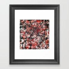 Imogene in Red Framed Art Print
