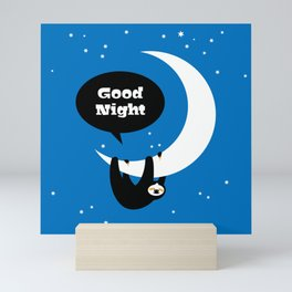 Childrens Room Illustration for Girls and Boys – Good Night Sloth Mini Art Print