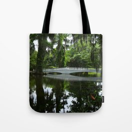 White Bridge On Magnolia Plantation Tote Bag