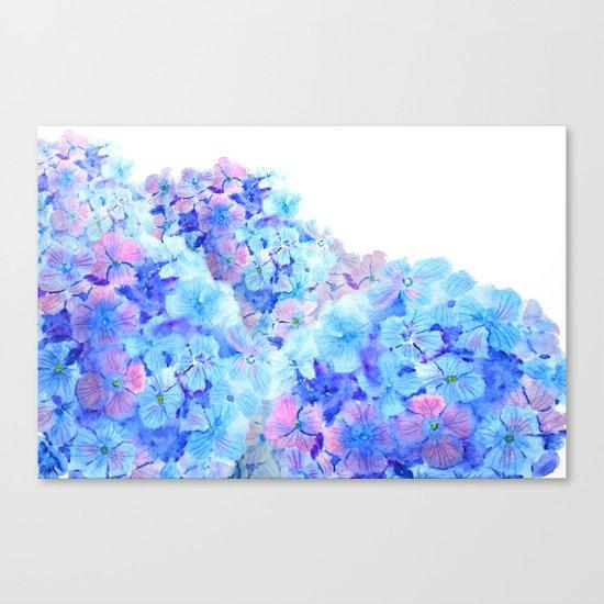 mountain of hydrangea Canvas Print
