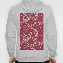 Modern tropical bright pink cheese leaves floral Hoody