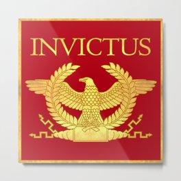 Invictus Eagle on Red Metal Print