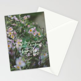 Micah 6:8 | Do Justice, Love Kindness, Walk Humbly Encouraging Scripture Art Stationery Cards