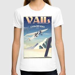 Vail Colorado vintage travel poste T-shirt